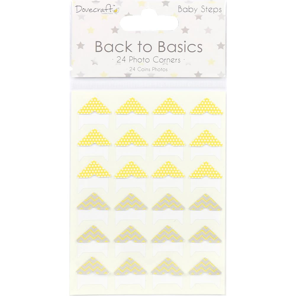 Dovecraft Back To Basics Photo Corners 24/Pkg - Baby Steps