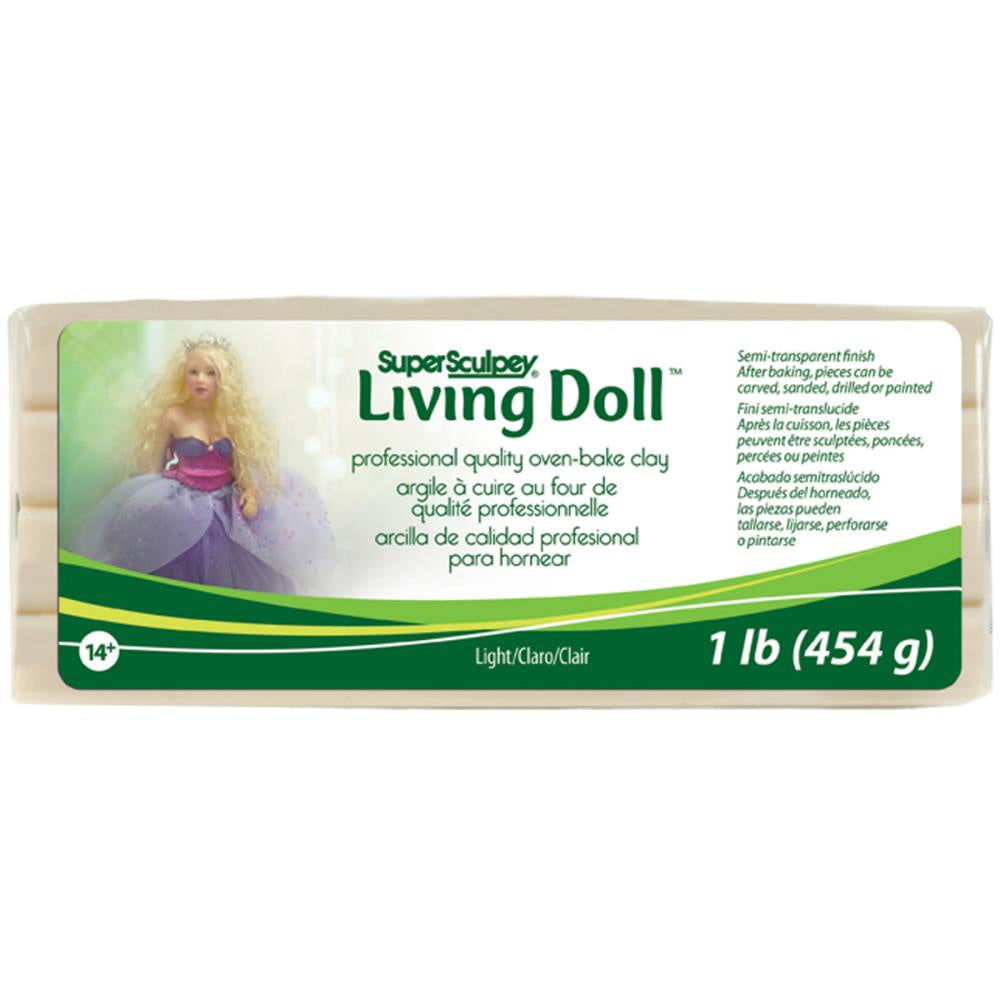 Super Sculpey Living Doll Clay 1lb - Light