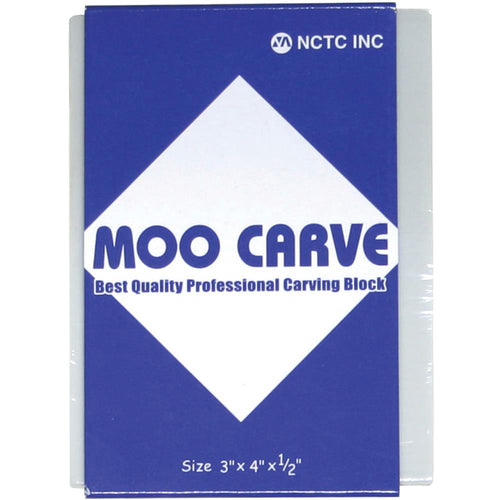 "Moo Carving Block - 3""X4""X.5"""