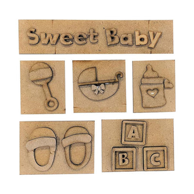 Foundations Decor Shadow Box Kit - Sweet Baby