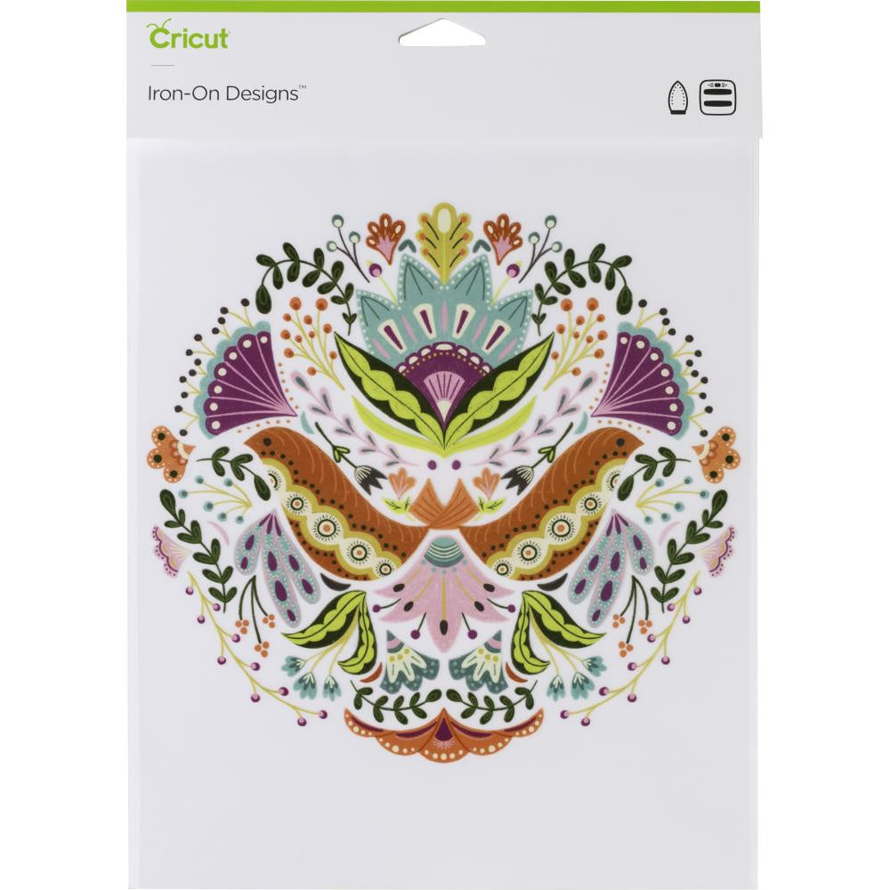 "Cricut Iron On Designs 8.5""X12"" - Floral Mandala-Large"