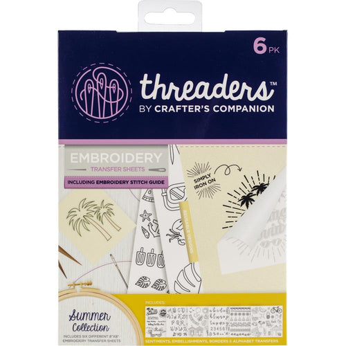 Crafter's Companion Threaders Embroidery Transfer Sheets - Summer