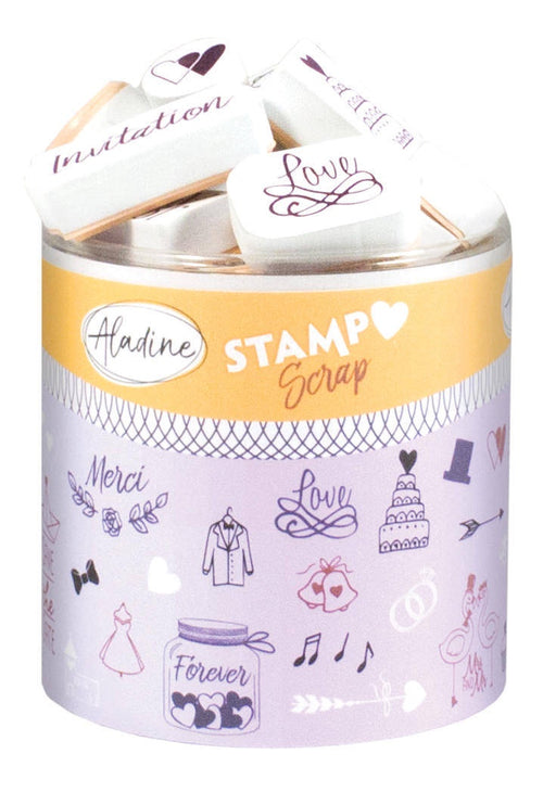 Aladine STAMPO SCRAP - WEDDING