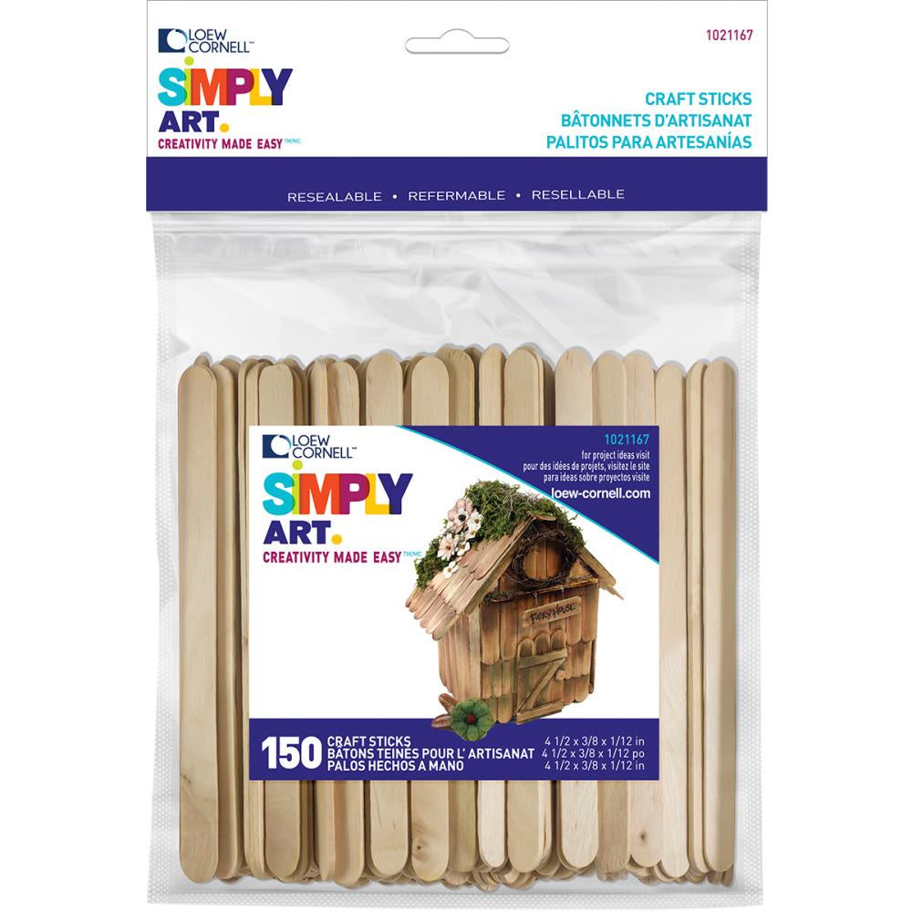 Simply Art Wood Craft Sticks - 150/Pkg
