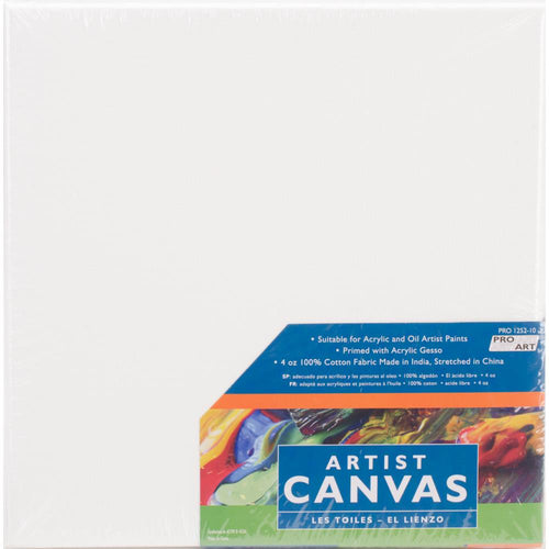 "Pro Art Stretched Artist Canvas Twin Pack 2/Pkg - 10""x10"""
