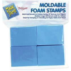 Magic Stamp Moldable Foam Stamps - 8/Pkg Blocks