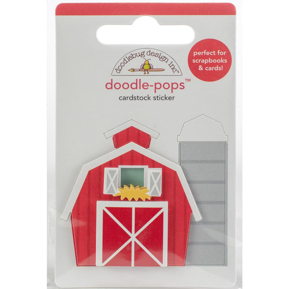 Doodlebug Doodle-Pops 3D Stickers - Red Barn