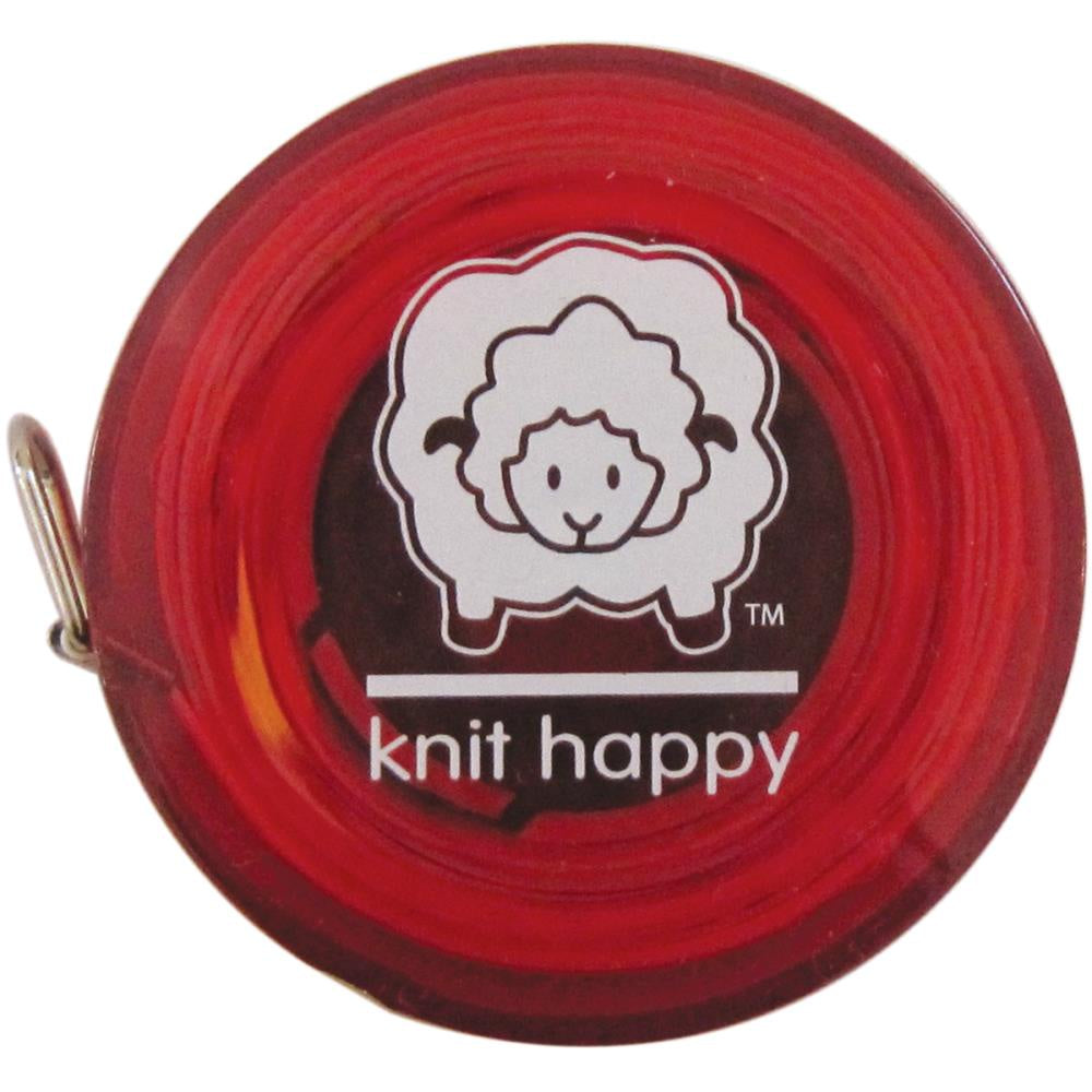 "Knit Happy Tape Measure 60"" - Red"