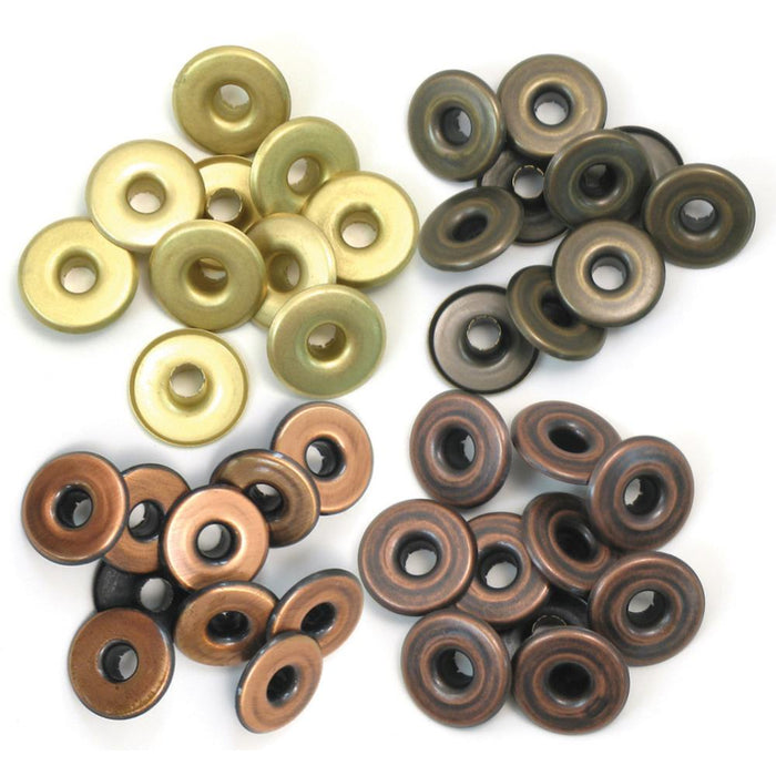 We R Eyelets Wide 40/Pkg - Warm Metal
