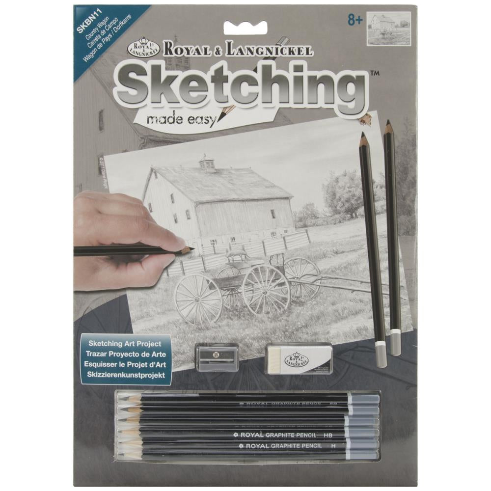 "Sketching Made Easy Kit 9""X12"" - Country Wagon"