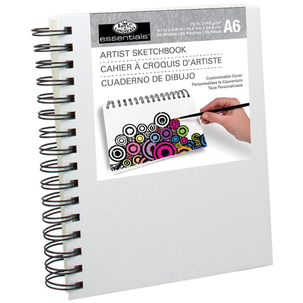 "essentials™ Canvas Cover Sketchbook 4.1""X5.8"""