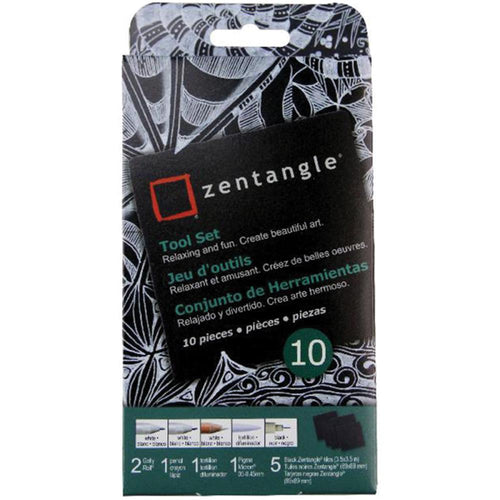 Zentangle Tool Set 10/Pkg - Black Tiles