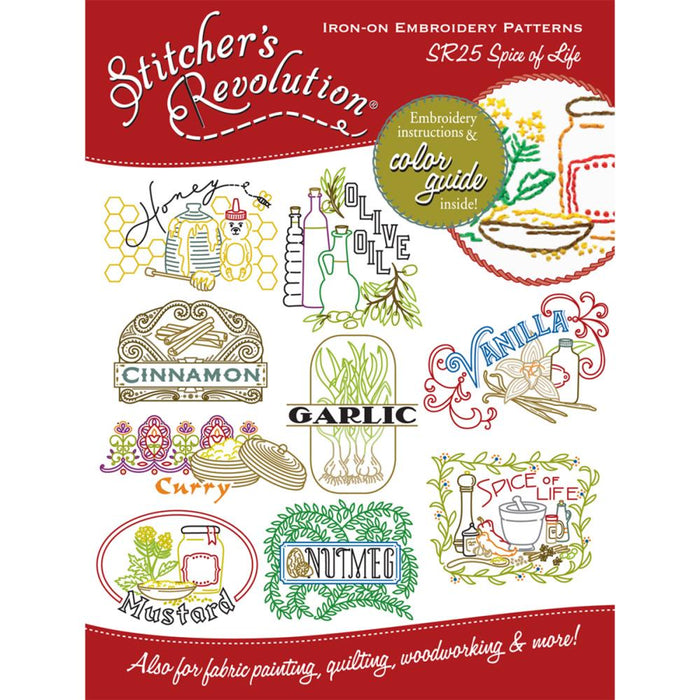 Stitcher's Revolution Iron-On Transfers - Spice of Life