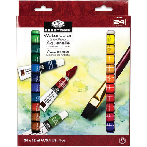 essentials™ Watercolor Paints 12ml 24/Pkg - Assorted Colors