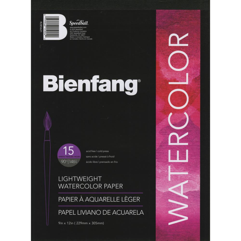 "Bienfang Lightweight Watercolor Paper Pad 9""X12"""