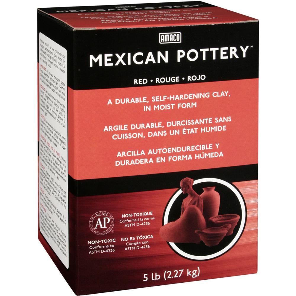 Mexican Self-Hardening Clay 5lb - Red