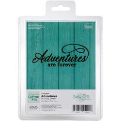 "Couture Creations Every Day Sentiments Hotfoil Stamp - Adventures 3.7""X1.4"""