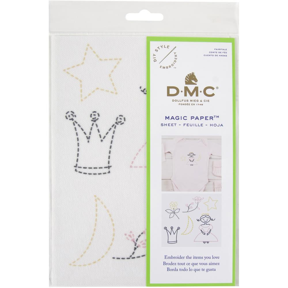 DMC Magic Paper Pre-Printed Needlework Designs - Fairy Tale - Embroidery