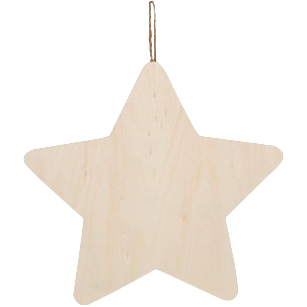 "Wood Plaque Star - 10""x10"""