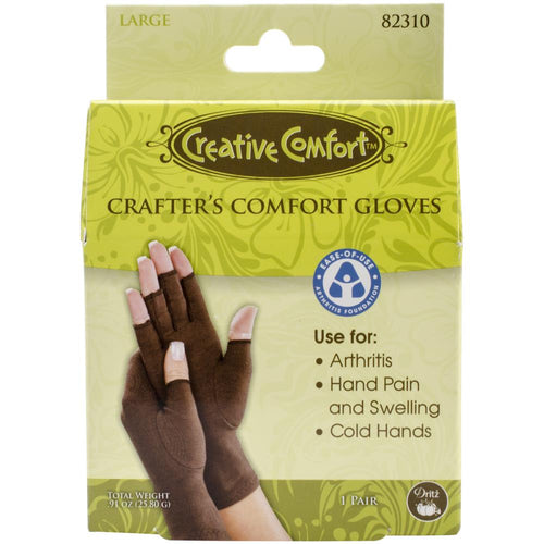 Dritz Creative Comfort Crafter's Comfort Gloves 1 Pair - Large