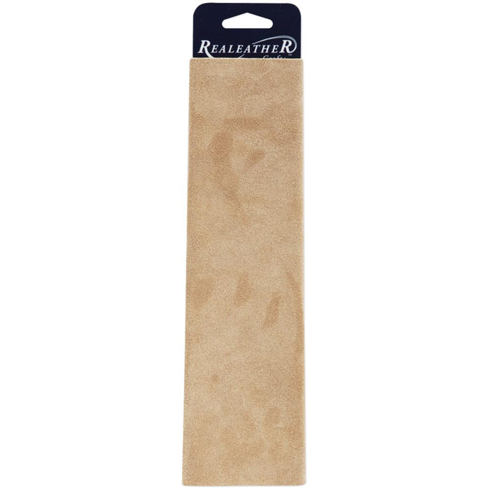 "Realeather Crafts Suede Trim Piece 8.5""X11"" - Beige"