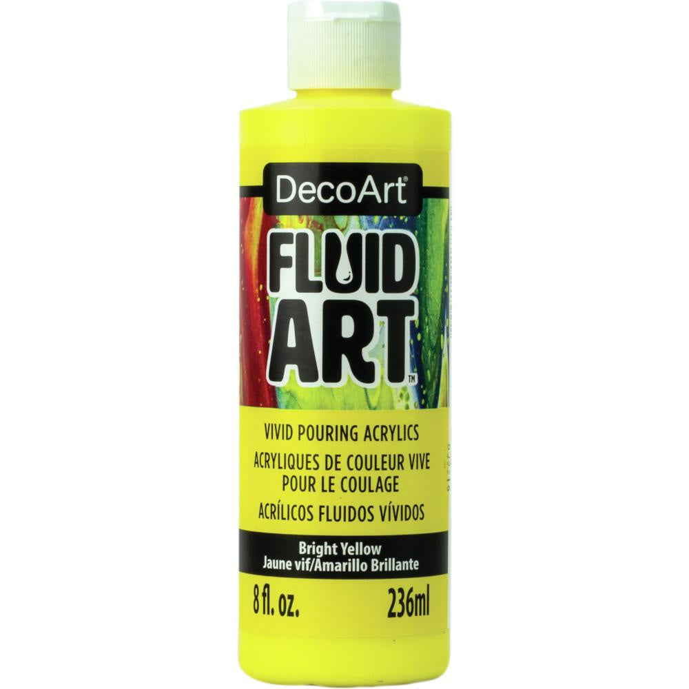 DecoArt FluidArt Ready-To-Pour Acrylic Paint 8oz - Bright Yellow