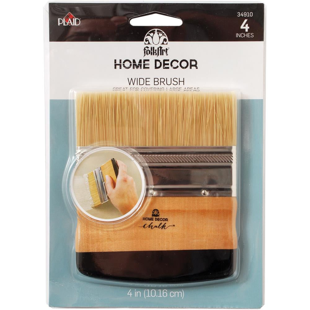 "FolkArt Home Decor Brush - 4"" Wide"