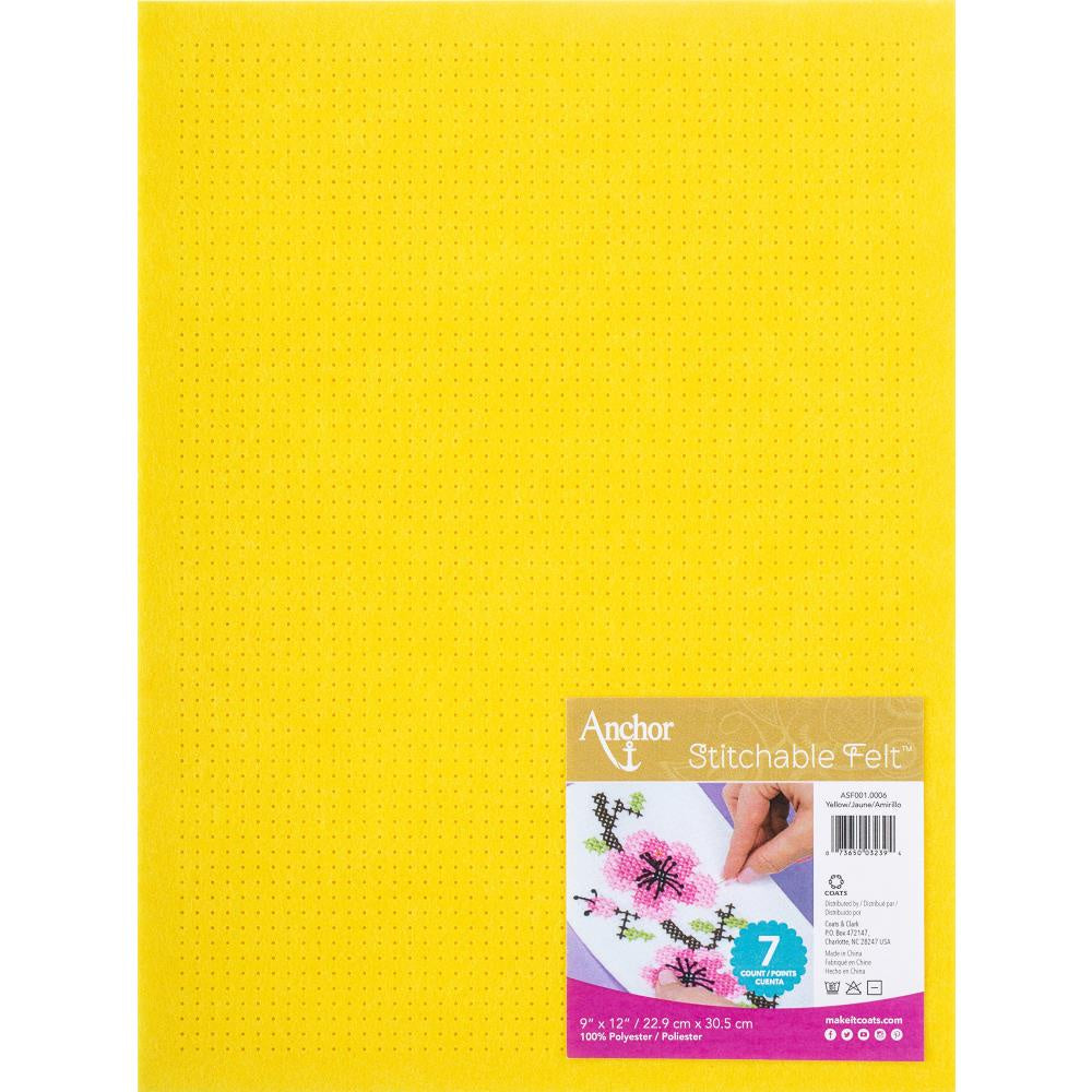 Red Heart Stitchable Felt - Yellow