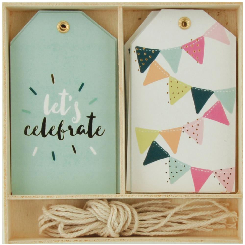 Kaisercraft Lucky Dip Gift Tags 12/Box - Let's Celebrate