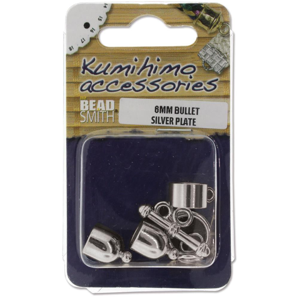 Kumihimo Bullet Finding Set 6mm Silver-Plated