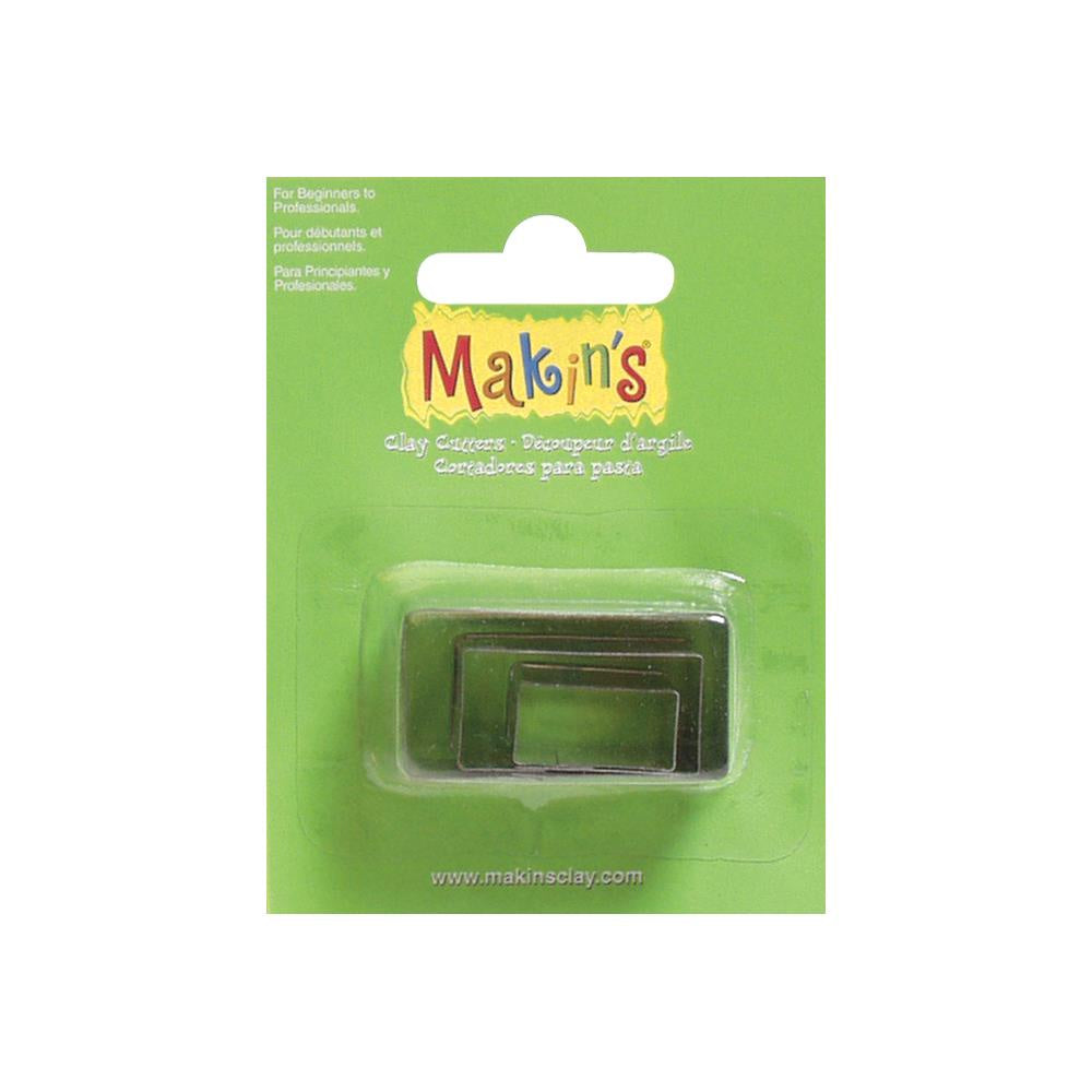 Makin's Clay Cutters 3/Pkg - Rectangle