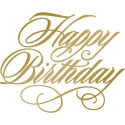 Couture Creations Anna Griffin Hotfoil Stamp - Happy Birthday