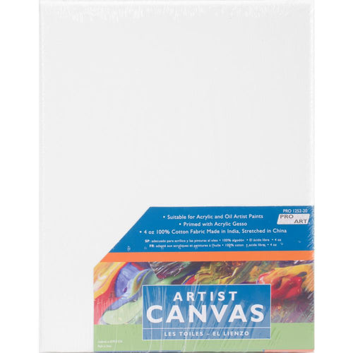"Pro Art Stretched Artist Canvas Twin Pack 2/Pkg - 8""x10"""