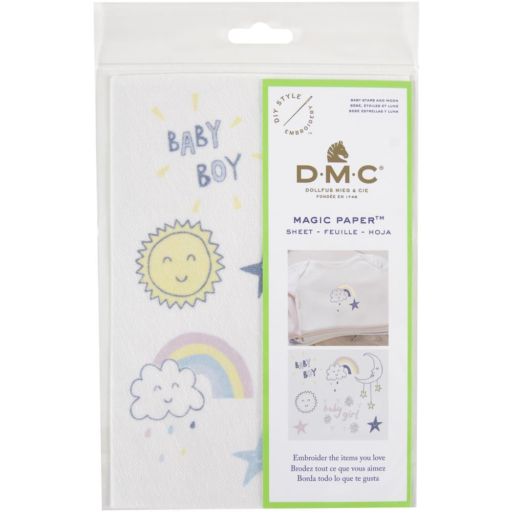 DMC Magic Paper Pre-Printed Needlework Designs - Baby Star - Embroidery