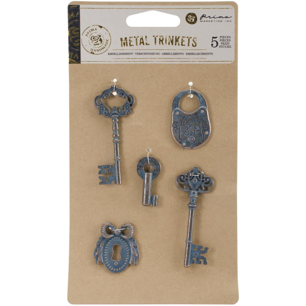 Prima Marketing Metal Trinkets - Keys 5/Pkg