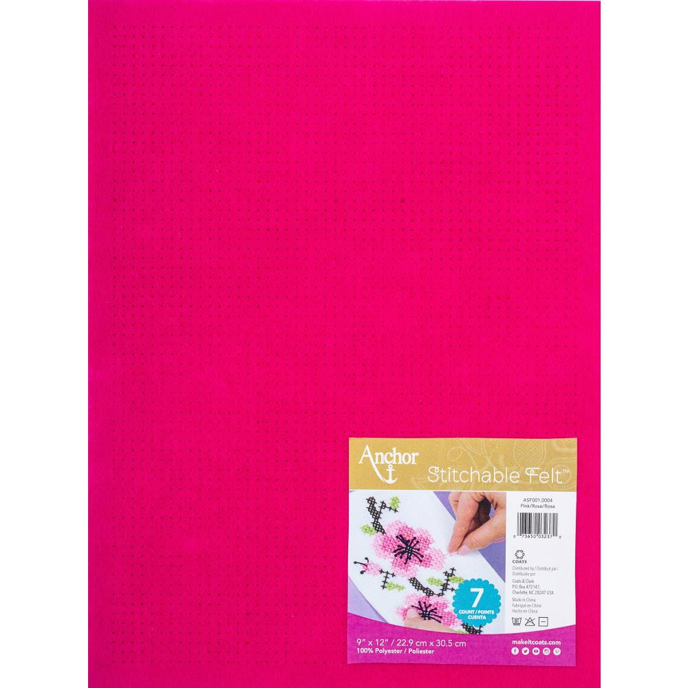 Red Heart Stitchable Felt - Pink