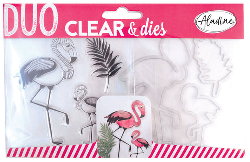 Aladine - DUO CLEAR + DIE CUT PINK - Pink Flamingo