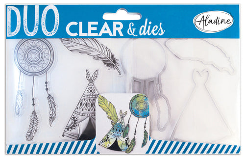 Aladine - DUO CLEAR + DIE CUT - Native American