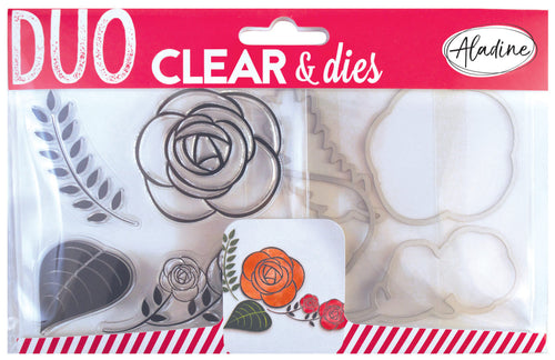 Aladine - DUO CLEAR + DIE CUT - ROSE