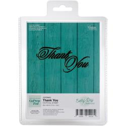 "Couture Creations Every Day Sentiments Hotfoil Stamp - Thank You 3.3""X1.6"""