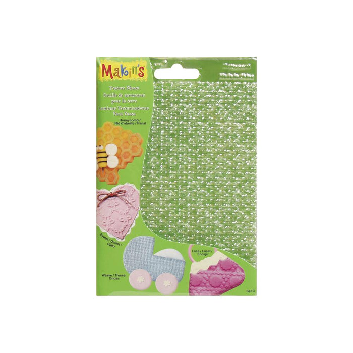 "Makin's Clay Texture Sheets 7""X5.5"" 4/Pkg - Set C"