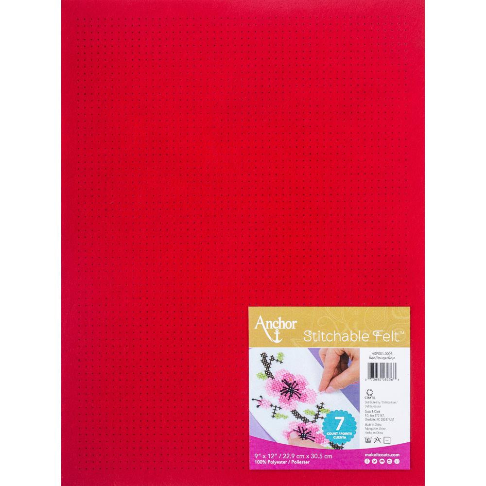 Red Heart Stitchable Felt - Red