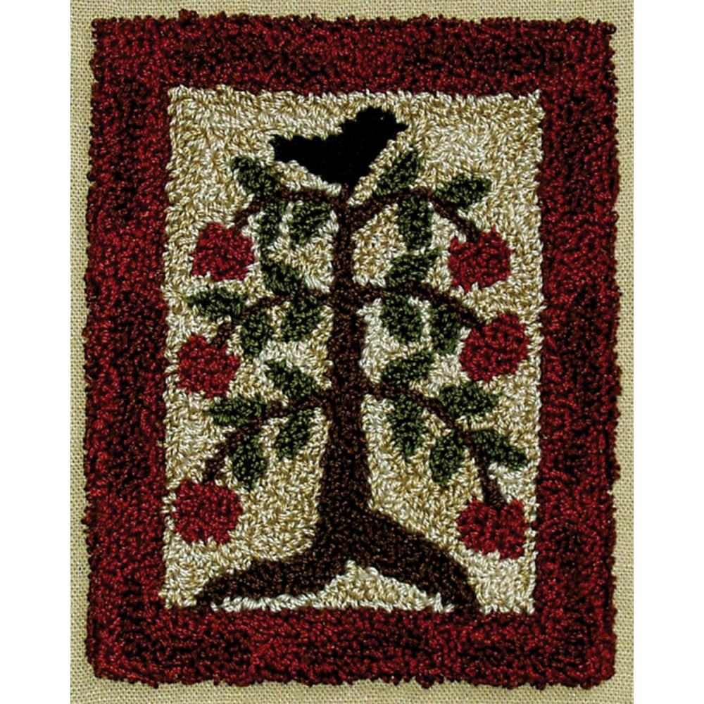 "Rachel's of Greenfield Punch Needle Kit 3""X4"" - Apple Tree"