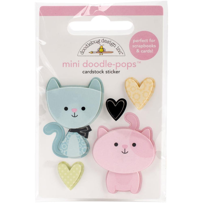 Doodlebug Doodle-Pops 3D Stickers - Bitty Kitties