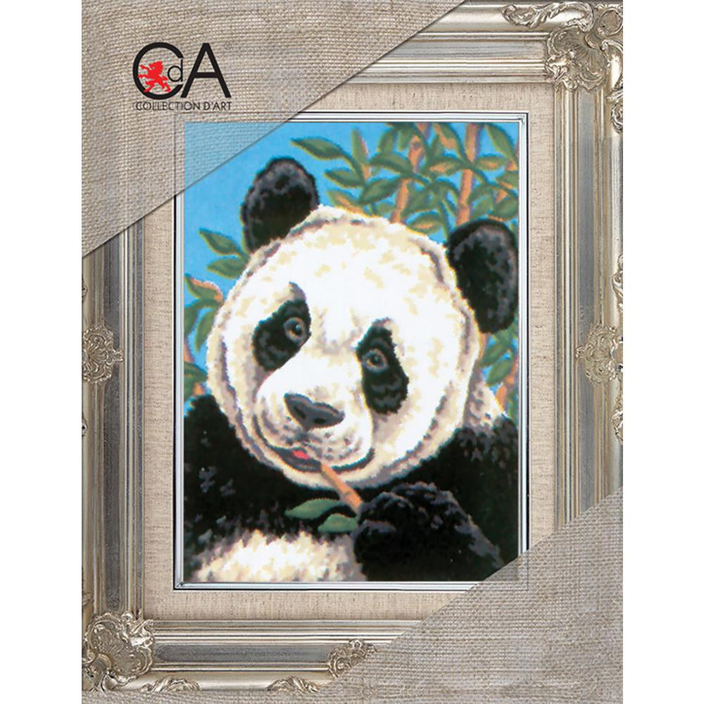 Collection D'Art Stamped Needlepoint Kit 14X18cm - Panda