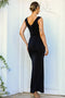 Women's Fish Model Glitter Black Evening Dress - Eva Secret