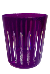 Vaso Corto Violeta De Rayas - shop now