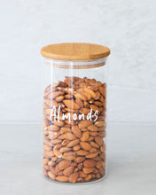 Load image into Gallery viewer, Glass & Bamboo Jar 1300ml