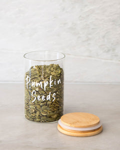 Glass & Bamboo Jar 600ml