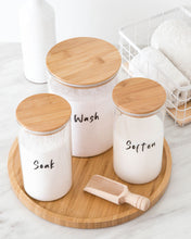 Load image into Gallery viewer, Glass & Bamboo Laundry Set